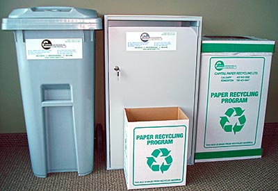 Charmant Capital Paper Office Recycling Bins